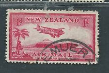 New Zealand used airmail Scott C6, SG 570 Airplane over Landing Field