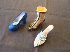 miniature shoes by Just the Right Shoe New Heights, Deco Boot & Frosted Fantasy