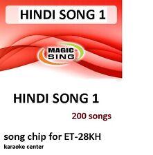 HINDI 1 Enter Tech Entertech Magic Sing Mic 200 Songs for ET28KH