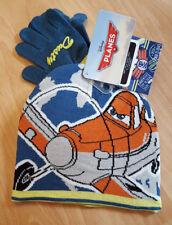 Disney Pixar Planes Blue Dusty Design Winter Hat & Gloves Accessory Set NEW!