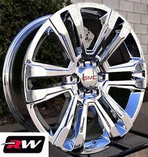 "GMC Yukon Wheels 2017 2018 GMC Yukon Denali 22"" inch Chrome Rims 22x9"" 6x5.50"""
