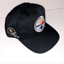 Pittsburgh Steelers Embroidered Logo Snapback NFL Trucker Hat Cap Black