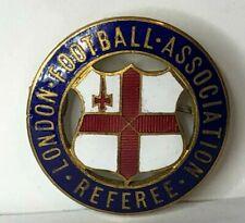 More details for vintage london football association referee enamel badge 30 mm vaughtons