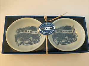 Williams-Sonoma New In Box Coves Saltem Oysters Seafood Sauce Bowls set of 2