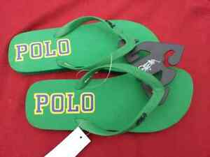 POLO RALPH LAUREN PONY SANDAL FLIP FLOPS SHOES~Green~Mens 12~NWT