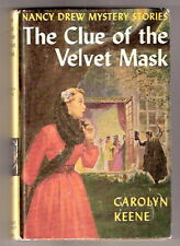 Nancy Drew THE CLUE OF THE VELVET MASK   ex+  25 chap