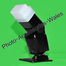 Pro Difusor De Flash 380 Ex Blanco rebote se adapta a Canon Olympus Sigma Metz Minolta