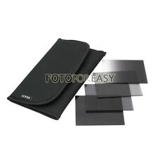 4pcs Neutral Density ND2+ND4+ND8+Gradual Grey Filter+Case Kit for Cokin P Series