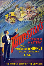 M27 Vintage Thurston Magic Magician Vanishing Car illusionist Poster A1 A2 A3