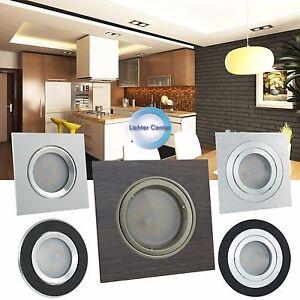 Einbaustrahler LED Einbauspots Deckenspots Deckenstrahler GU10 230V Schwenkbar 1