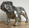 Large 26cm Silver Bulldog Ornament Sculpture Figurine Decoration dog lover gift