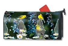 OS Finch Fence Mail Box Wrap flowers magnetic mailwrap mailbox cover Large