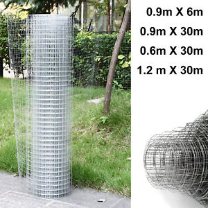 Galvanised Chicken Wire Mesh Netting Rabbit Cage Aviary Fence Plant Net
