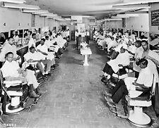 1960s Negro Barber Shop Not an Empty Chair 8 x 10  Photograph