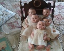 "Dionne Quintuplets-Madame Alexander Dolls-1930's rare 10"" size!!! With the book!"