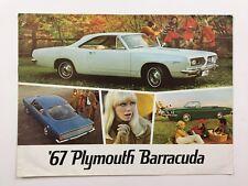 1967 Plymouth Barracuda 12-page DUTCH Original Car Sales Brochure Catalog