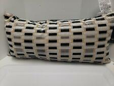 "Hallmart Collectibles Velvet Decorative Pillow 13 X 26"", Grey"