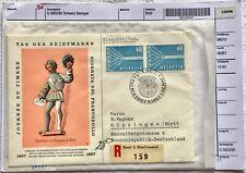 Rarität SCHWEIZ 2 x Mi-Nr. 647 Einschreiben mit SST Tag der Briefmarke 1957