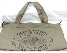 Campomaggi Dust Hand Cotton Shopper Bag Shopping Tote Designer Beach Green NEW