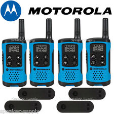 Motorola Talkabout T100 Walkie Talkie 4 Pack Set 16 Mile Two Way Radios Blue New