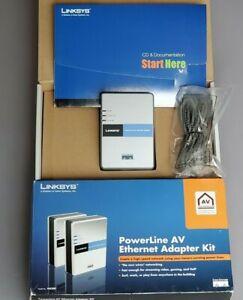 1 Linksys Cisco Powerline AV ethernet adapter PLK200 10/100 Mbps unused open box