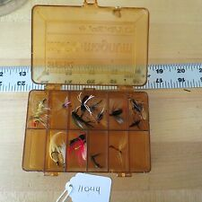 Vintage Plano Micro Magnum fishing lure box with flies (lot#11044)