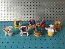 McDonalds Food Changeables Vintage Robot Transformers 8 Pc Lot Happy Meal Toys