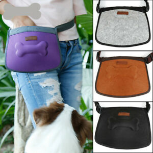 Dog Walking Training Obedience Treat Pouch Portable Pet Puppy Snack Belt Bag UK