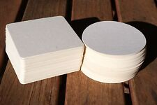 Blank Beer mat Coaster Board x 100 for Weddings and Parties (Craft)