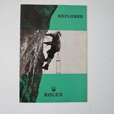 ROLEX Explorer Vintage 1967 Brochure Leaflet Booklet VERY VERY RARE VF+ French