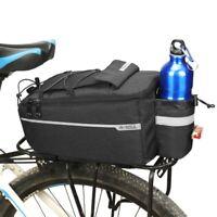 Cycling Bicycle Rear Seat Storage Bag Trunk Bike Pannier Rack Waterproof Handbag