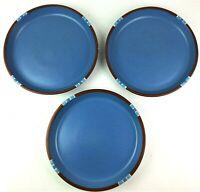 Dansk Mesa Sky Blue Dinner Plate Lot 3 Portugal Microwave Safe Discontinued
