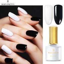 2Pcs 6ml BORN PRETTY Nail Art Gel Polish Black White UV Led Gel Varnish