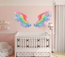 Rainbow Angel Wings Wall Decal Girls Nursery Sticker Furniture Door Home Decor