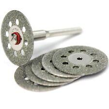6x Diamant Trennscheiben 22mm Schmuck Glas Metall Schleifscheibe + Dorn / D28