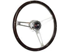 1969 - 1989 Chevy Steering Wheel Kit, Deluxe Riveted Wood & Cross Flags | Tilt