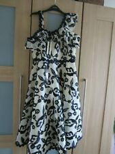 BNWT Topshop Navy/White evening dress size 14