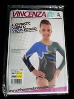 Vincenza Dance Wear Gymnastics Sleeved Show Leotard Adagio