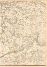 1863  LARGE ANTIQUE MAP - DISPATCH ATLAS- LONDON ENVIRONS 7, GREENWICH, DARTFORD