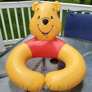 Vintage Disney's WINNIE THE POOH  Water Floatie Swim ~ Open Ring ~ Pool Toy