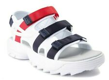 Fila Disruptor Size 9 Women's Sandals White Red Blue Platform Strap NIB New
