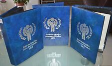 """COLLECTION OF 283 FDC COVERS """"UNICEF"""" DIFFERENT COUNTRIES,+3 ALBUMS,1979 YEAR"""