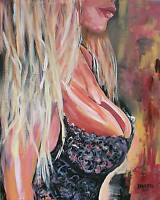 Sexy Babe Original Art Painting Artist DAN BYL Modern Contemporary Huge 4x5ft