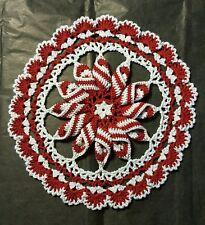 Peppermint Pinwheel Doily