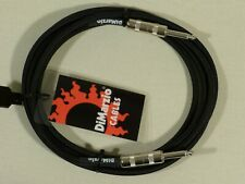 Dimarzio BLACK 3m 10 Foot Guitar Bass Quality Instrument Cable Lead USA Made