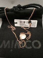 BNWT MIMCO Jewellery WAVER Necklace Rose Gold RRP $79.95 FREE EXPRESS