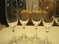 Vintage Crystal Champagne Flutes, Set of 4