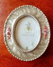 """Dennis East Standing Miniature Picture Photo Frame oval ornate 2.5 x 2.75"""" 33412"""