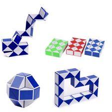 Magic Ruler Cube Twist Folding Snake Puzzle Kid Educational Toy 24 Blocks WQ