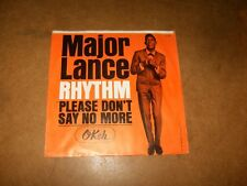 MAJOR LANCE - RHYTHM - PLEASE DON'T SAY NO MORE  - ONLY COVER NO RECORD